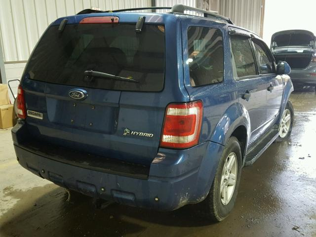 1FMCU59H78KE18770 - 2008 FORD ESCAPE HEV BLUE photo 4