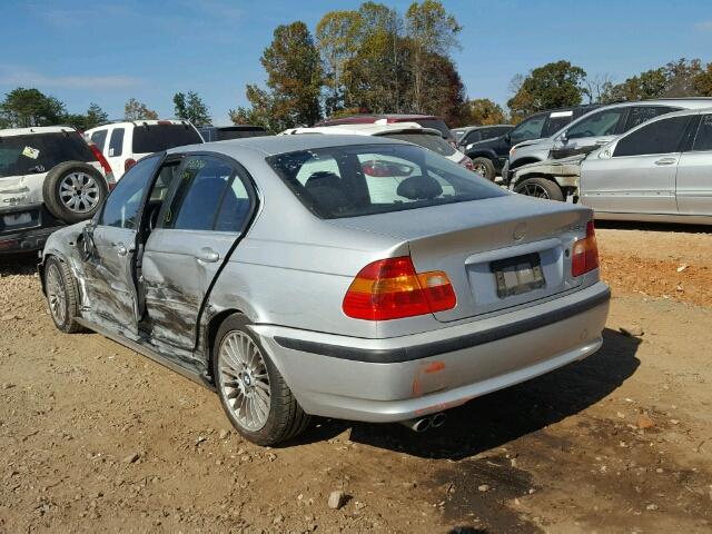 WBAEV53422KM23637 - 2002 BMW 330 I SILVER photo 3