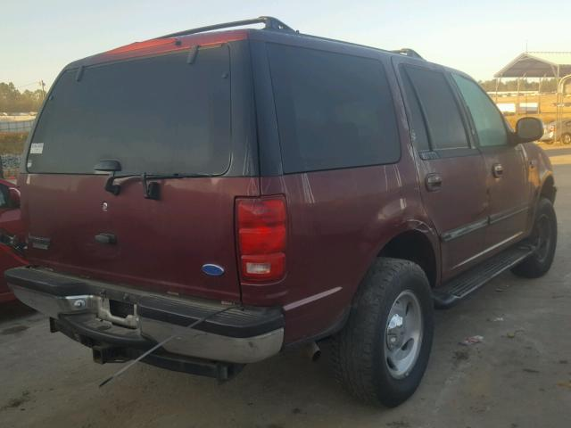1FMEU18W3VLC04334 - 1997 FORD EXPEDITION BURGUNDY photo 4
