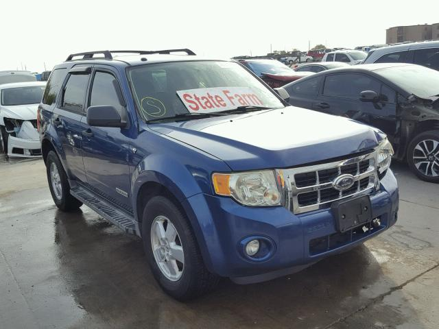 1FMCU031X8KE83319 - 2008 FORD ESCAPE BLUE photo 1