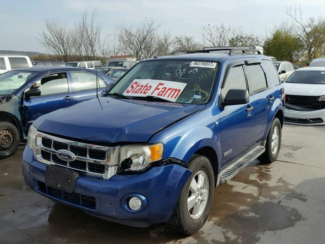 1FMCU031X8KE83319 - 2008 FORD ESCAPE BLUE photo 2