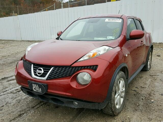 JN8AF5MVXBT026648 - 2011 NISSAN JUKE RED photo 2