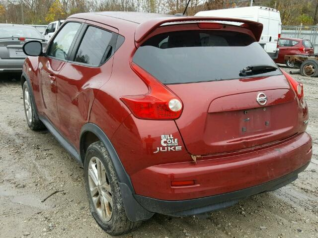 JN8AF5MVXBT026648 - 2011 NISSAN JUKE RED photo 3