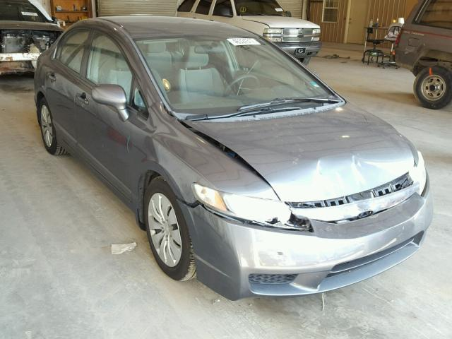 2HGFA16589H359090 - 2009 HONDA CIVIC LX GRAY photo 1