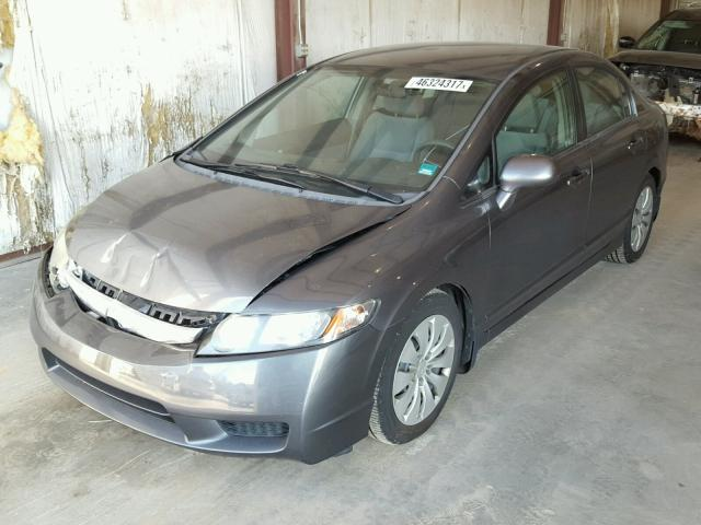 2HGFA16589H359090 - 2009 HONDA CIVIC LX GRAY photo 2