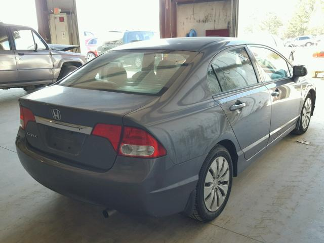 2HGFA16589H359090 - 2009 HONDA CIVIC LX GRAY photo 4