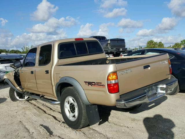 5TEGM92N92Z022663 - 2002 TOYOTA TACOMA GOLD photo 3