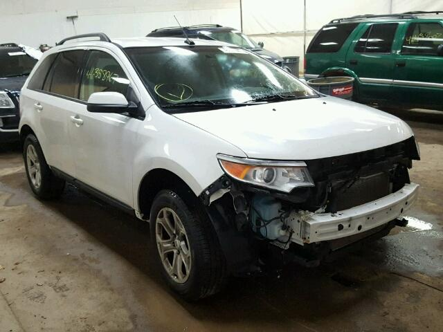 2FMDK3JC1DBC06157 - 2013 FORD EDGE SEL WHITE photo 1