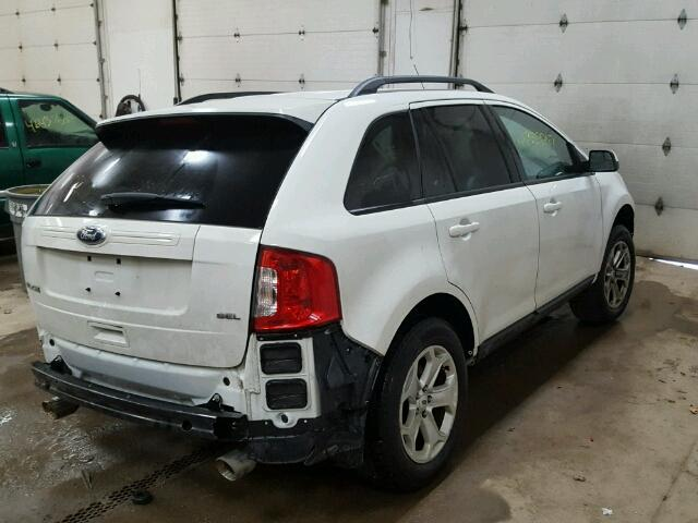 2FMDK3JC1DBC06157 - 2013 FORD EDGE SEL WHITE photo 4