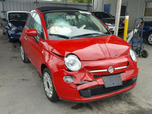 3C3CFFDR8CT203477 - 2012 FIAT 500 POP RED photo 1