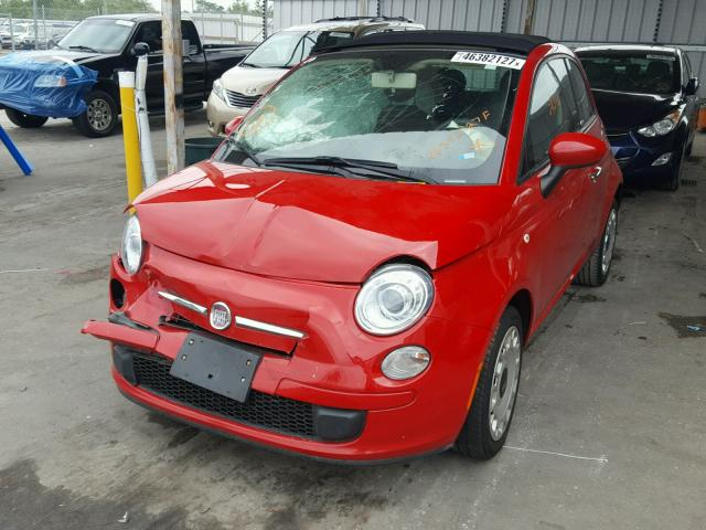 3C3CFFDR8CT203477 - 2012 FIAT 500 POP RED photo 2
