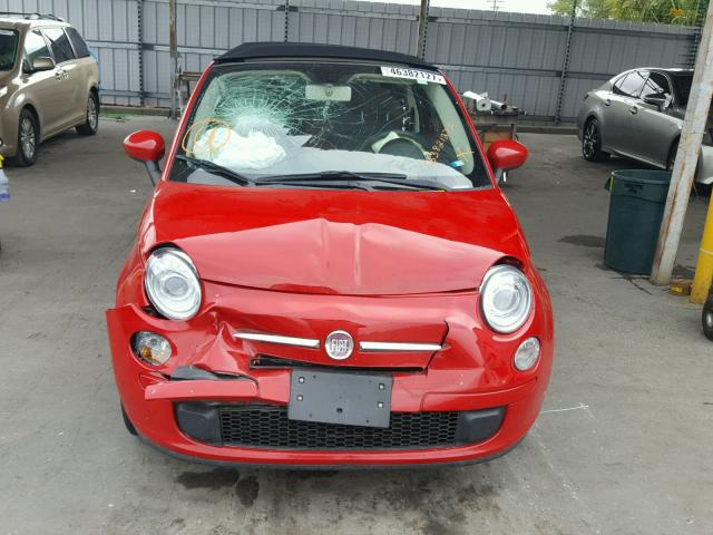 3C3CFFDR8CT203477 - 2012 FIAT 500 POP RED photo 9