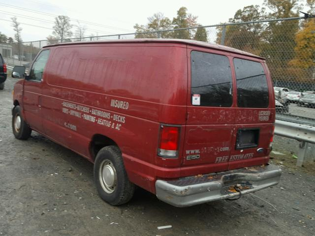 1FTRE14281HB10095 - 2001 FORD ECONOLINE RED photo 3