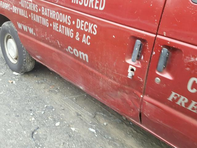 1FTRE14281HB10095 - 2001 FORD ECONOLINE RED photo 9