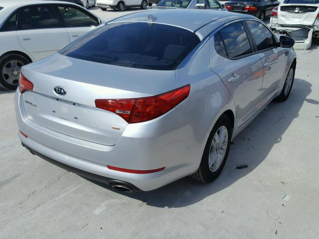 KNAGM4A7XB5166454   2011 KIA OPTIMA LX SILVER Photo 4