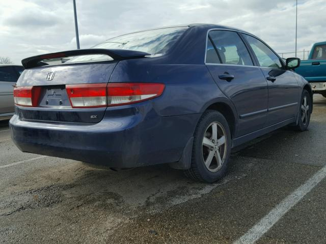 JHMCM56673C046694 - 2003 HONDA ACCORD EX BLUE photo 4