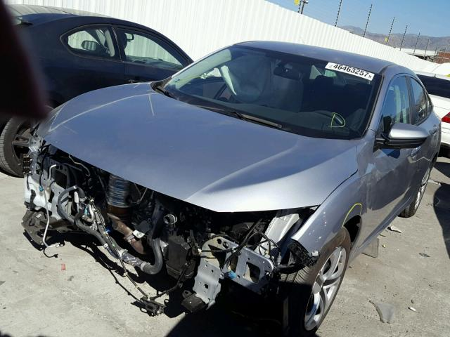 2HGFC2F50HH558522 - 2017 HONDA CIVIC LX SILVER photo 2