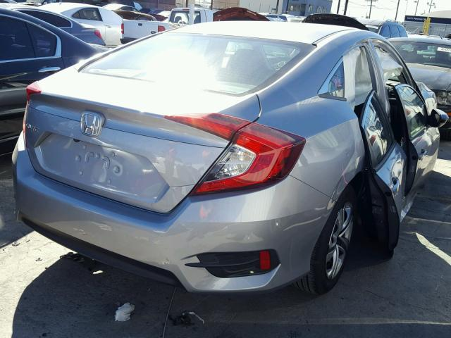2HGFC2F50HH558522 - 2017 HONDA CIVIC LX SILVER photo 4