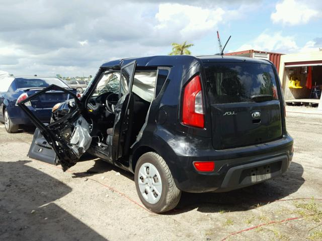 KNDJT2A55D7532987 - 2013 KIA SOUL BLACK photo 3