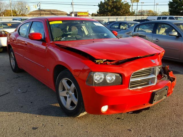 2B3CA3CV2AH186593 - 2010 DODGE CHARGER SX RED photo 1