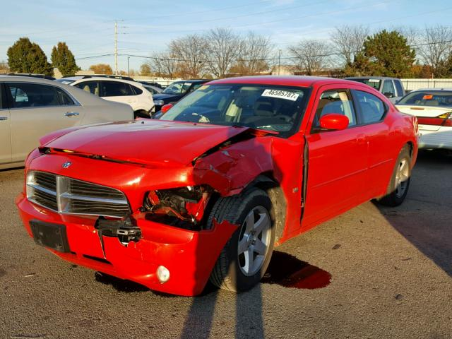 2B3CA3CV2AH186593 - 2010 DODGE CHARGER SX RED photo 2