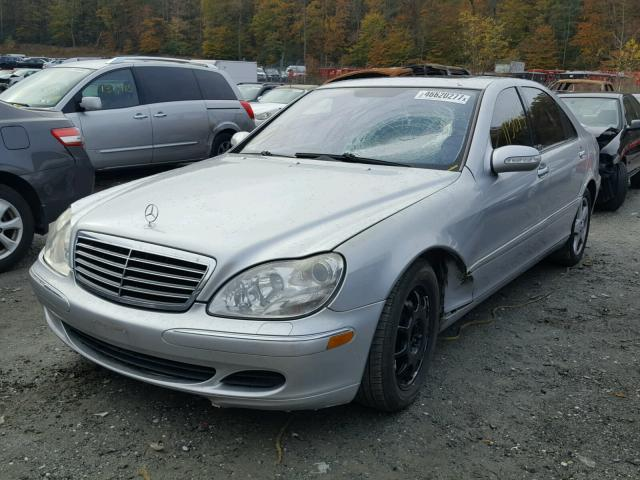 WDBNG75J75A456606 - 2005 MERCEDES-BENZ S 500 SILVER photo 2