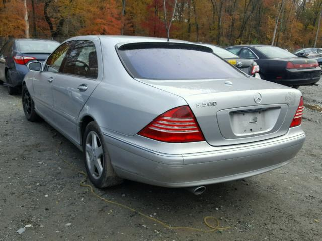 WDBNG75J75A456606 - 2005 MERCEDES-BENZ S 500 SILVER photo 3