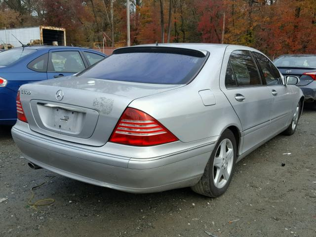 WDBNG75J75A456606 - 2005 MERCEDES-BENZ S 500 SILVER photo 4