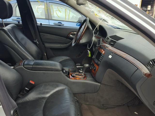WDBNG75J75A456606 - 2005 MERCEDES-BENZ S 500 SILVER photo 5