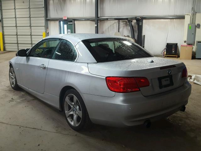 WBADX7C50CE745784 - 2012 BMW 335 I SILVER photo 3