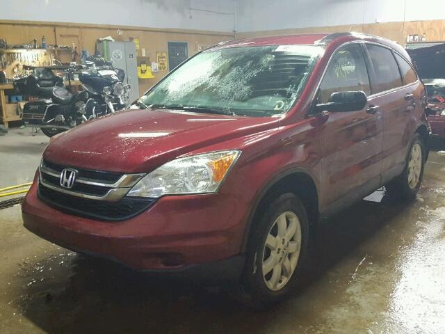 5J6RE4H44BL122931 - 2011 HONDA CR-V SE RED photo 2