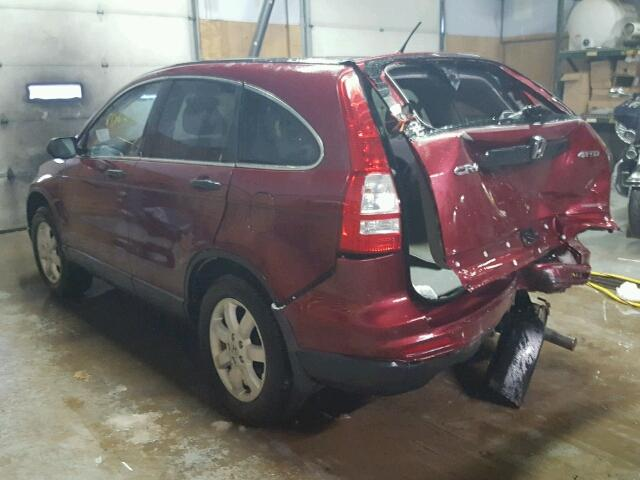 5J6RE4H44BL122931 - 2011 HONDA CR-V SE RED photo 3