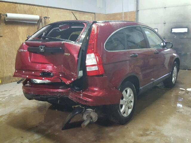 5J6RE4H44BL122931 - 2011 HONDA CR-V SE RED photo 4