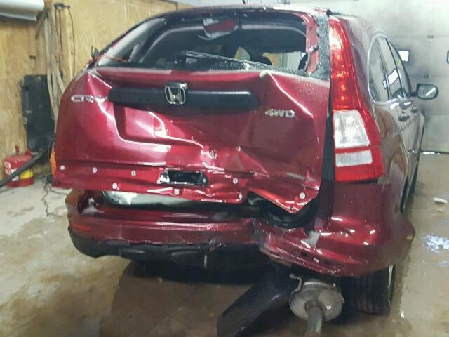 5J6RE4H44BL122931 - 2011 HONDA CR-V SE RED photo 9