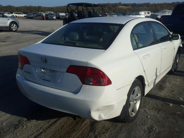 1HGFA16857L123619 - 2007 HONDA CIVIC EX WHITE photo 4