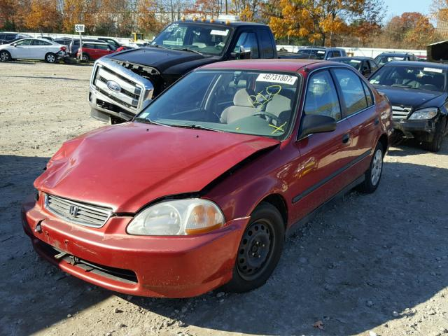 1HGEJ6677WL053149 - 1998 HONDA CIVIC LX RED photo 2