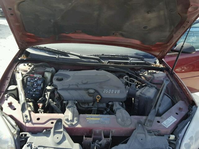 2G1WT58K679250212 - 2007 CHEVROLET IMPALA LT RED photo 7