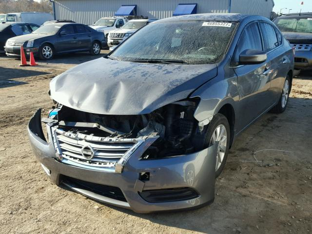 3N1AB7AP3FY334642 - 2015 NISSAN SENTRA S GRAY photo 2