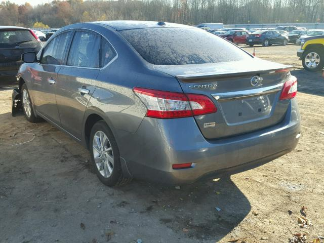 3N1AB7AP3FY334642 - 2015 NISSAN SENTRA S GRAY photo 3