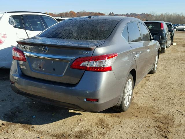 3N1AB7AP3FY334642 - 2015 NISSAN SENTRA S GRAY photo 4