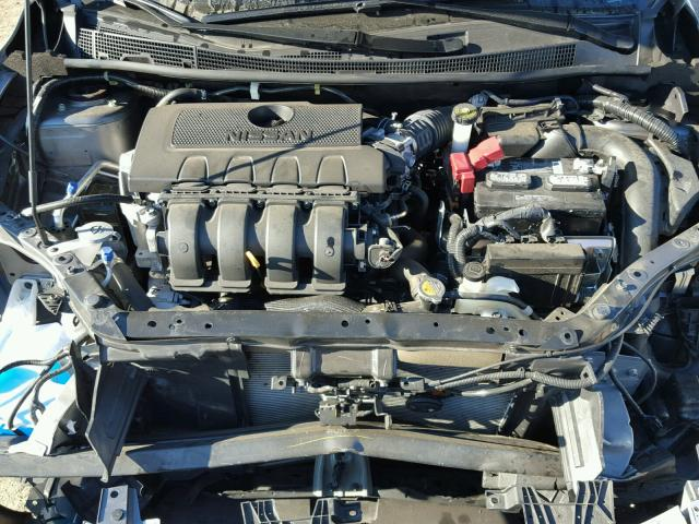 3N1AB7AP3FY334642 - 2015 NISSAN SENTRA S GRAY photo 7