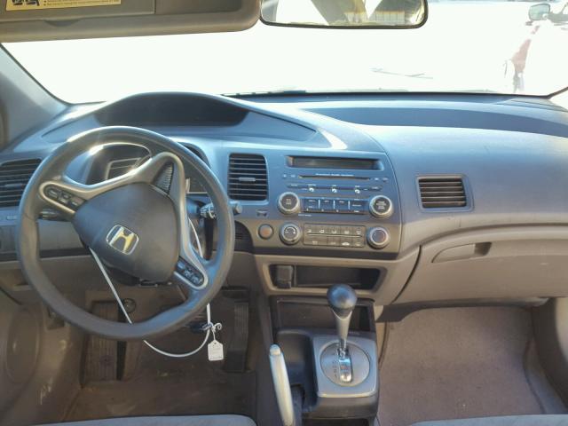 2HGFG12898H548554 - 2008 HONDA CIVIC EX SILVER photo 9