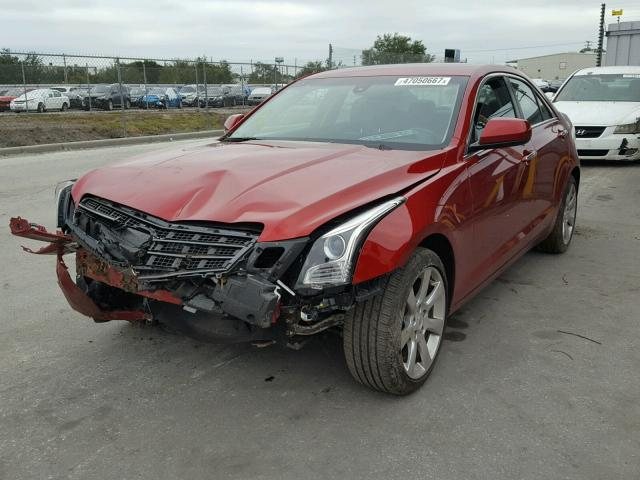 1G6AA5RA2E0160756 - 2014 CADILLAC ATS RED photo 2