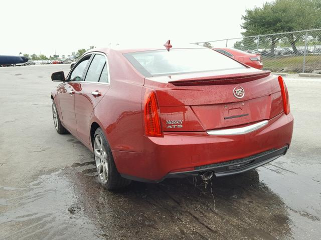 1G6AA5RA2E0160756 - 2014 CADILLAC ATS RED photo 3