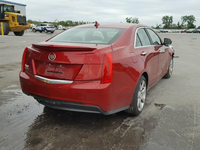 1G6AA5RA2E0160756 - 2014 CADILLAC ATS RED photo 4