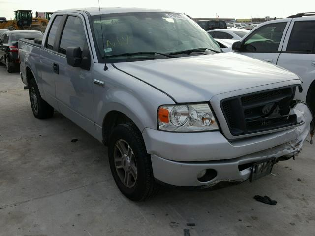 1FTRX12W68FB81091 - 2008 FORD F150 SILVER photo 1