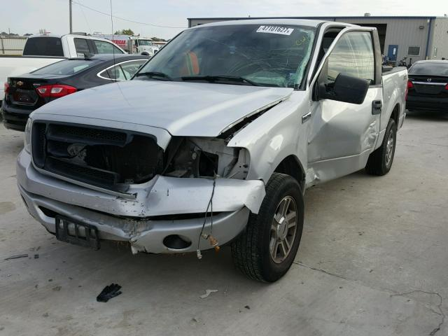 1FTRX12W68FB81091 - 2008 FORD F150 SILVER photo 2