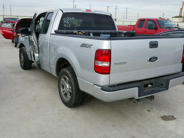 1FTRX12W68FB81091 - 2008 FORD F150 SILVER photo 3