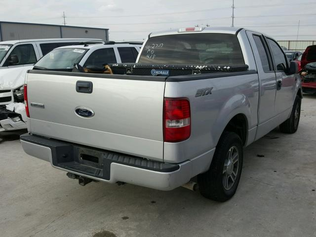 1FTRX12W68FB81091 - 2008 FORD F150 SILVER photo 4