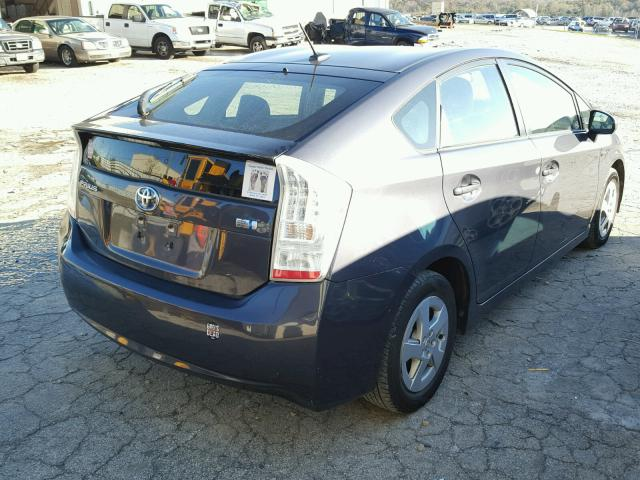 JTDKN3DUXA0242756 - 2010 TOYOTA PRIUS GRAY photo 4